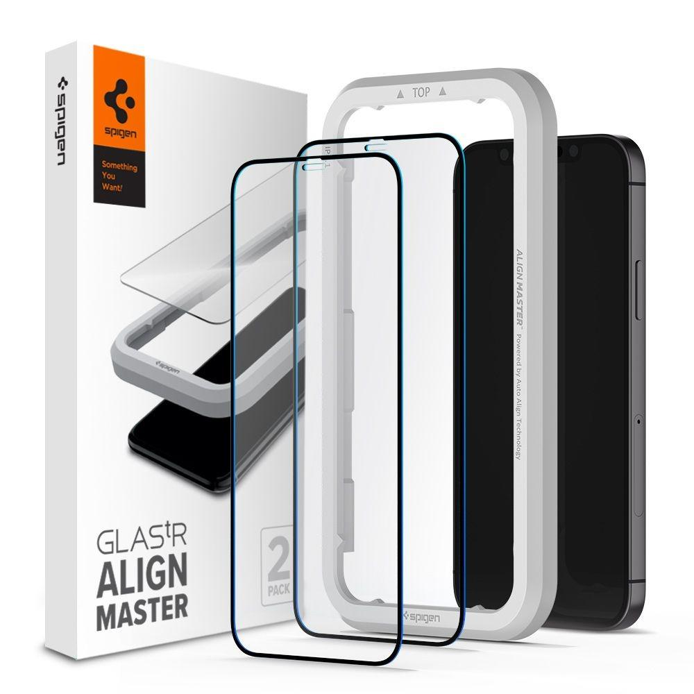 iPhone 12/12 Pro AlignMaster GLAS.tR (2-pack) Black