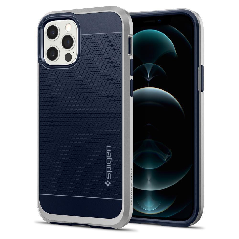 iPhone 12/12 Pro Case Neo Hybrid Satin Silver
