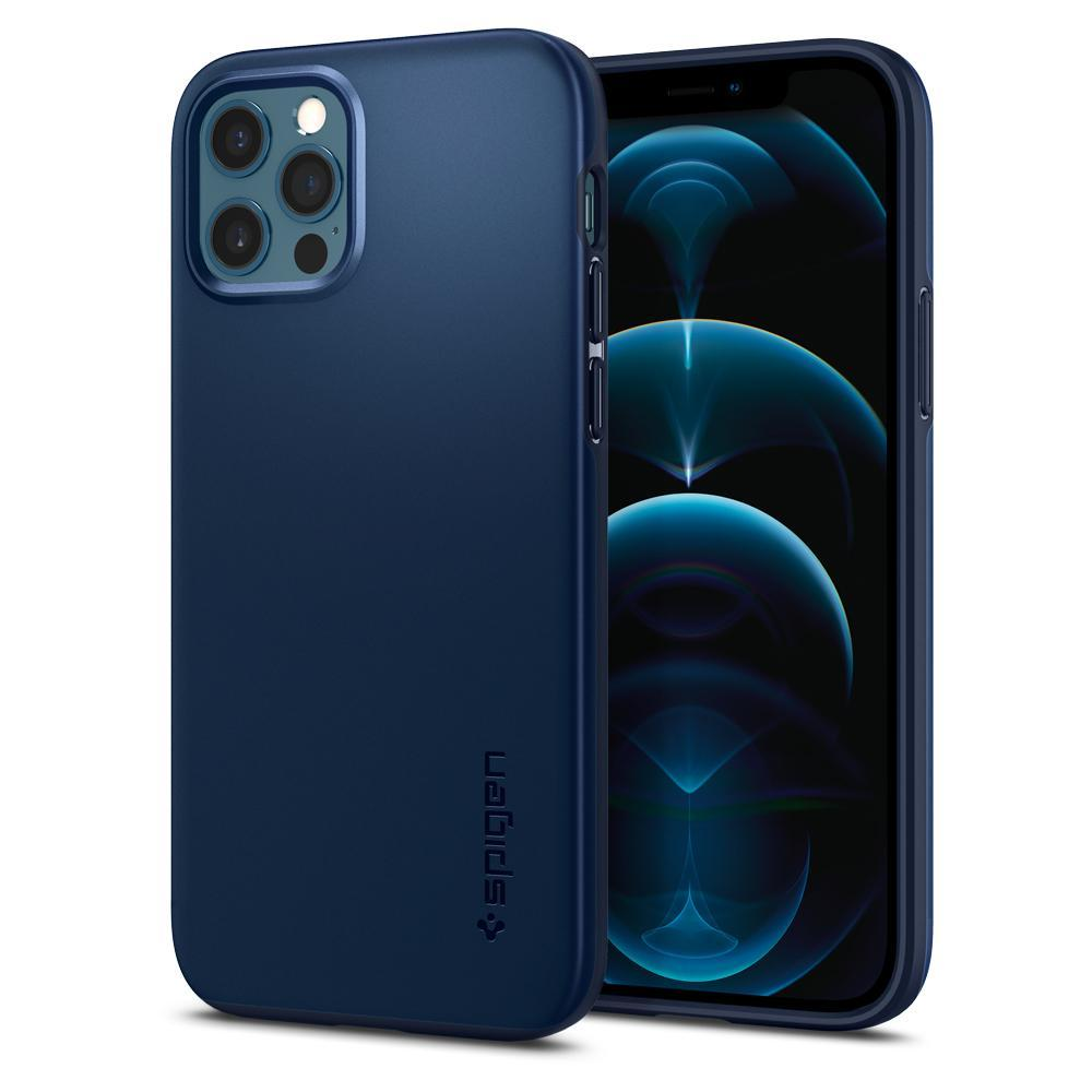iPhone 12/12 Pro Case Thin Fit Navy Blue