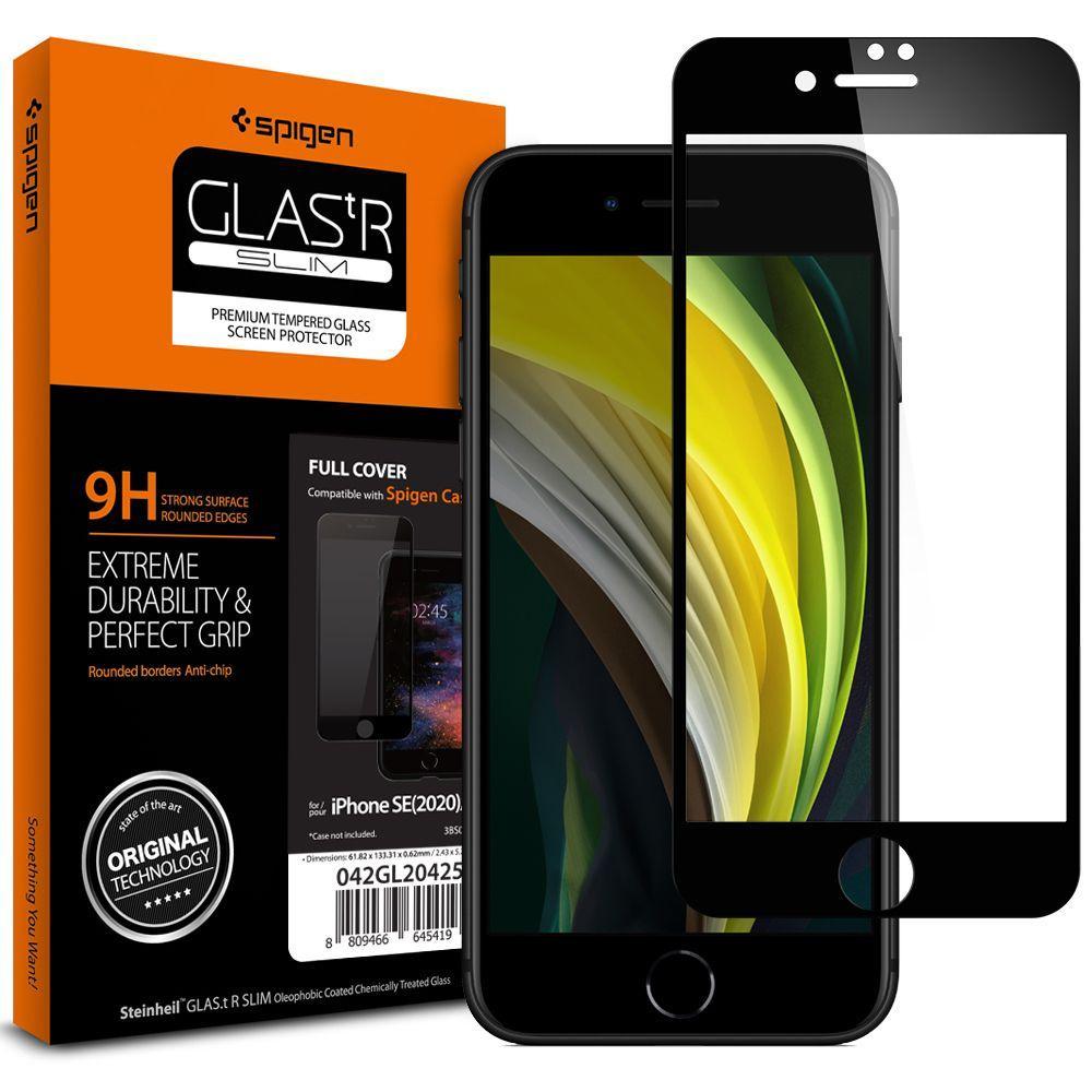 iPhone SE 2020/8/7 Full Cover Screen Protector GLAS.tR SLIM HD