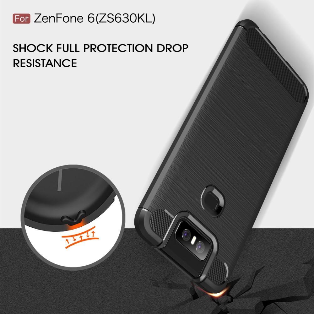 Brushed TPU Kuori Asus ZenFone 6 Black