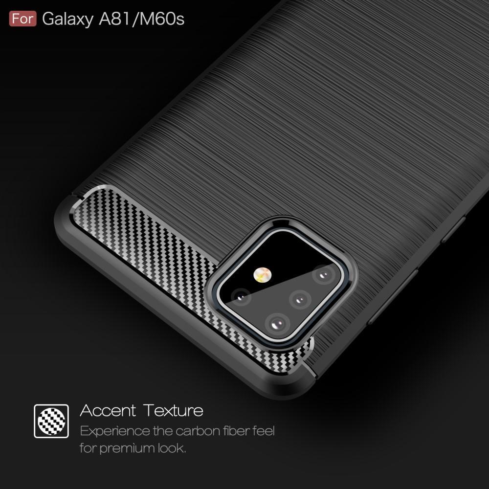 Brushed TPU Kuori Galaxy Note10 Lite Black