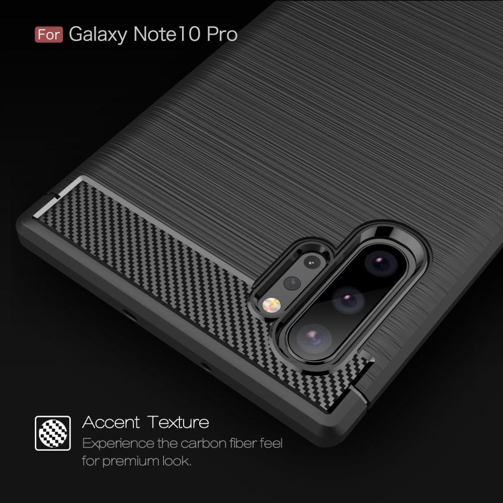 Brushed TPU Kuori Galaxy Note 10 Plus Black