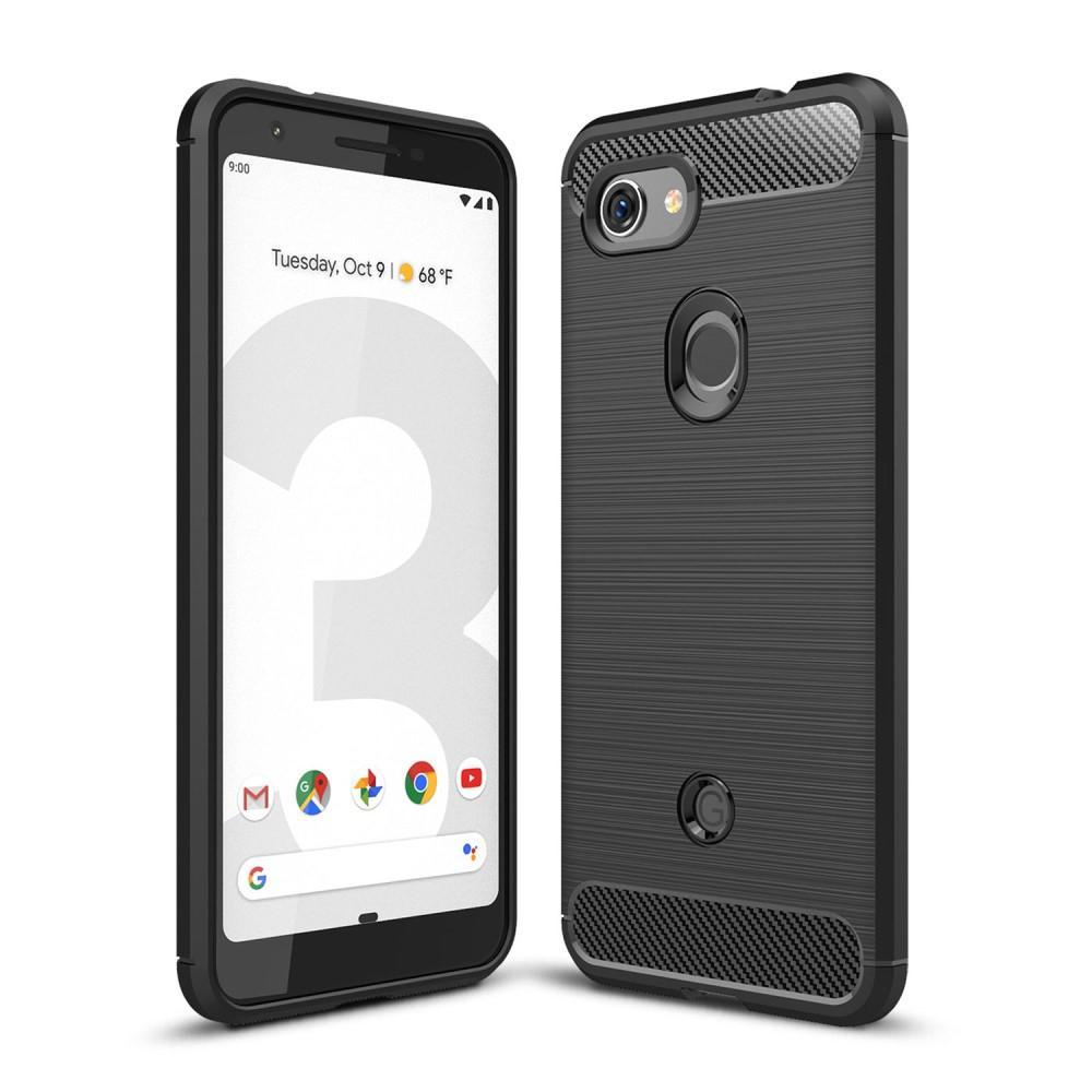 Brushed TPU Kuori Google Pixel 3a Black