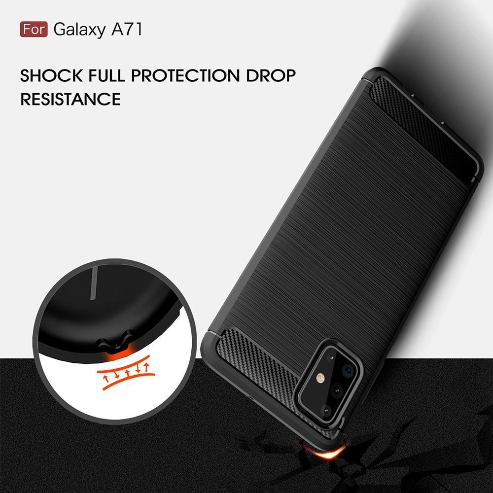 Brushed TPU Kuori Samsung Galaxy A71 Black
