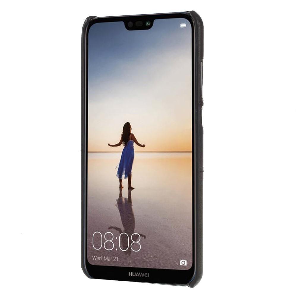 Card Slots Case Huawei P20 Pro musta