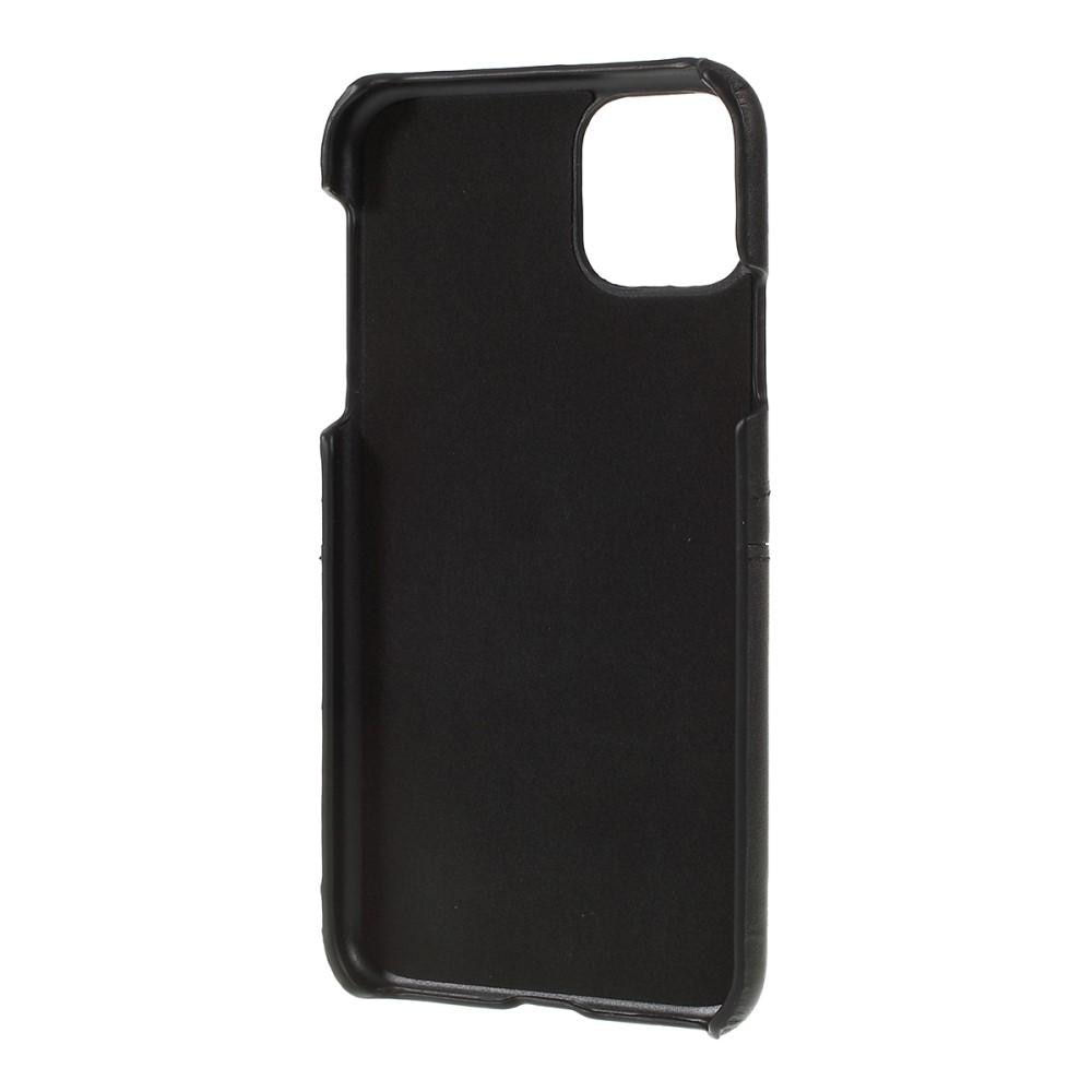Card Slots Case iPhone 11 musta