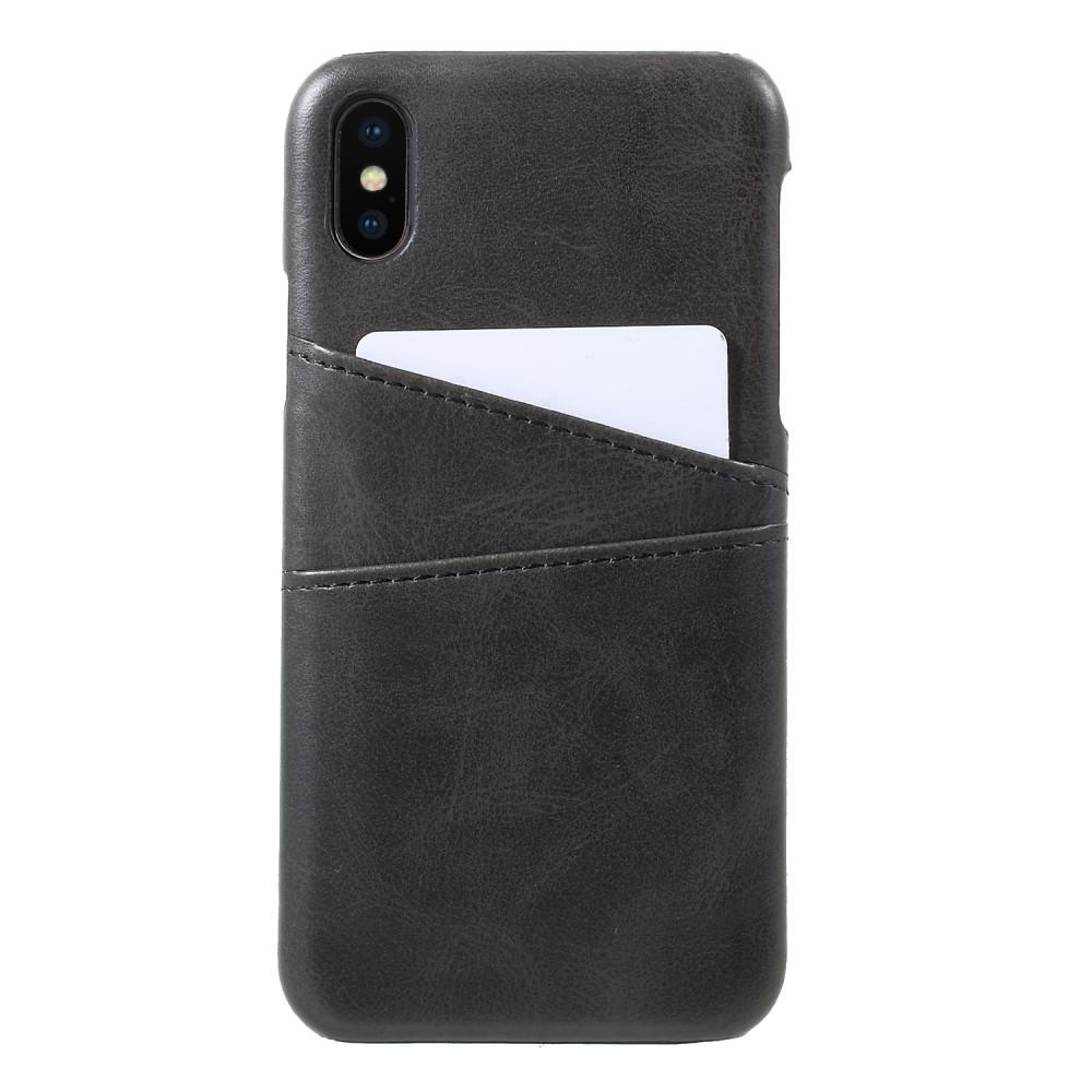 Card Slots Case iPhone X/Xs musta