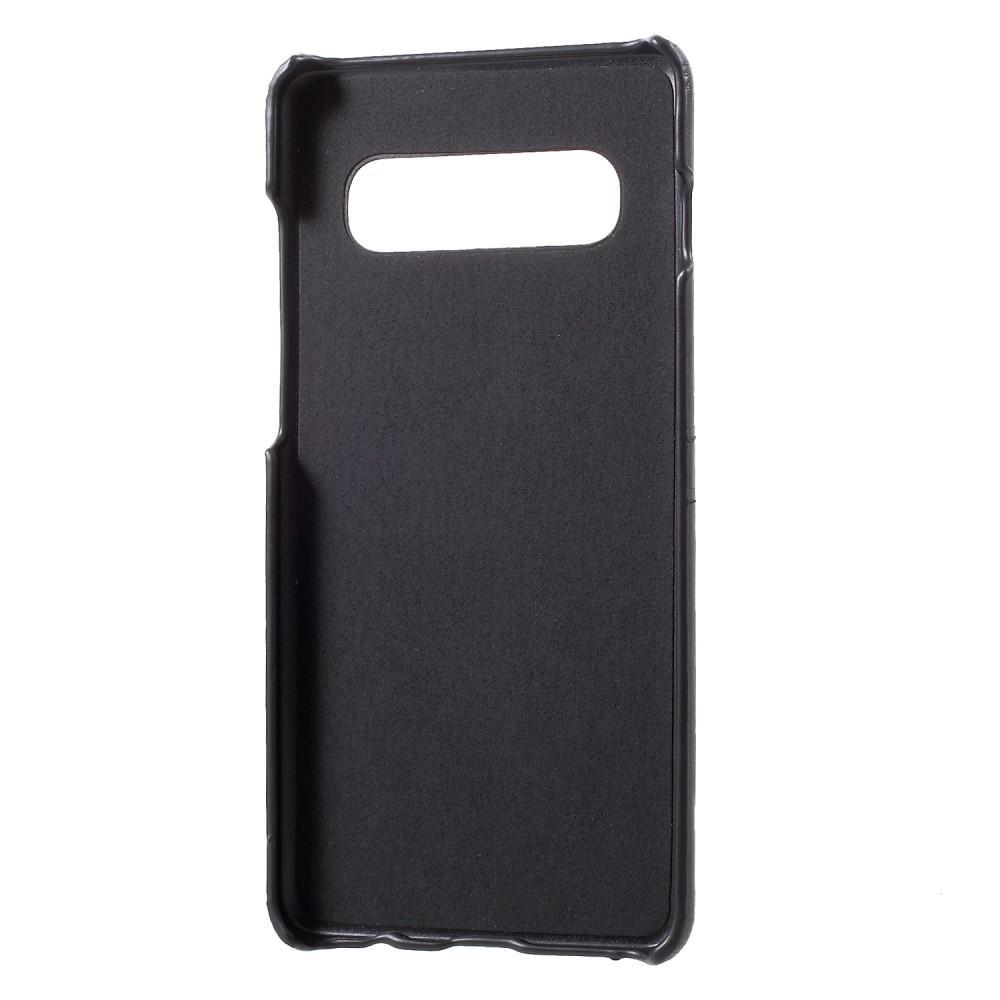 Card Slots Case Samsung Galaxy S10 musta