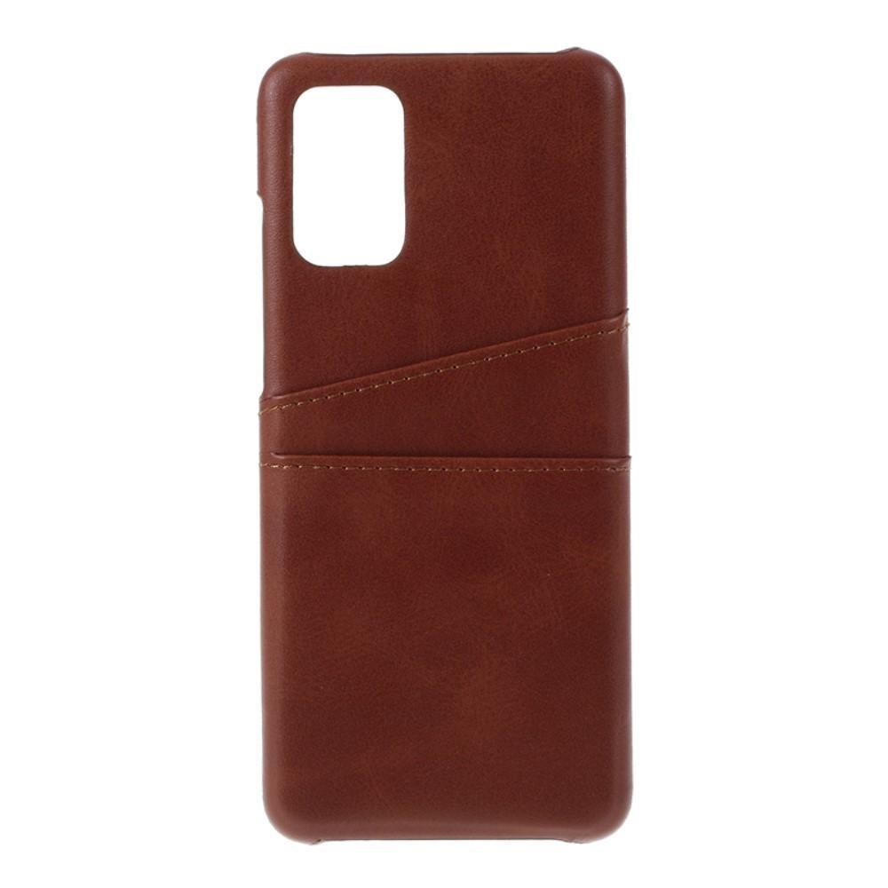 Card Slots Case Samsung Galaxy S20 Plus ruskea