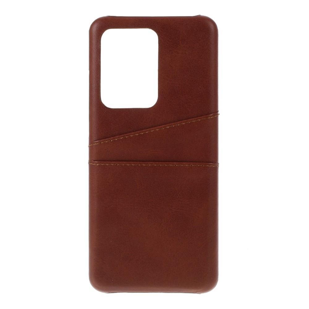 Card Slots Case Samsung Galaxy S20 Ultra ruskea