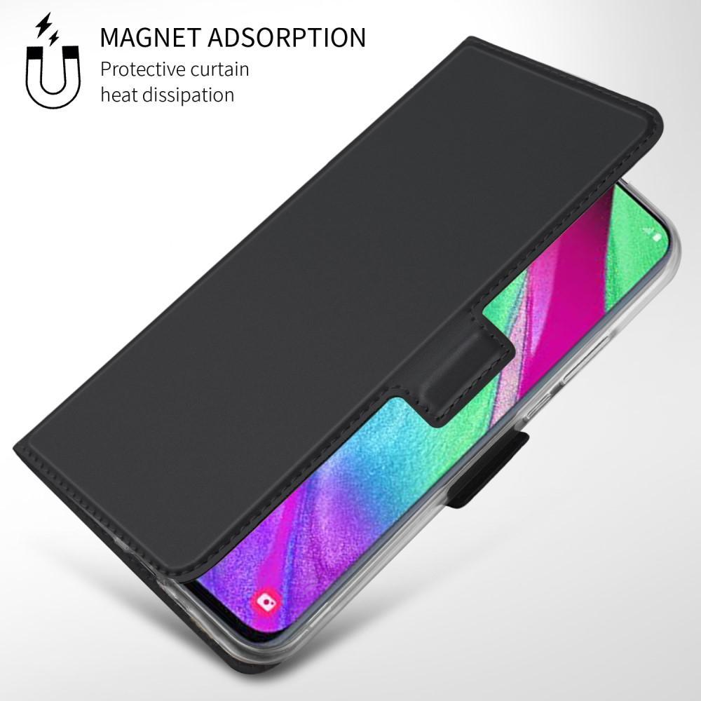 Slim Card Wallet Galaxy A40 musta