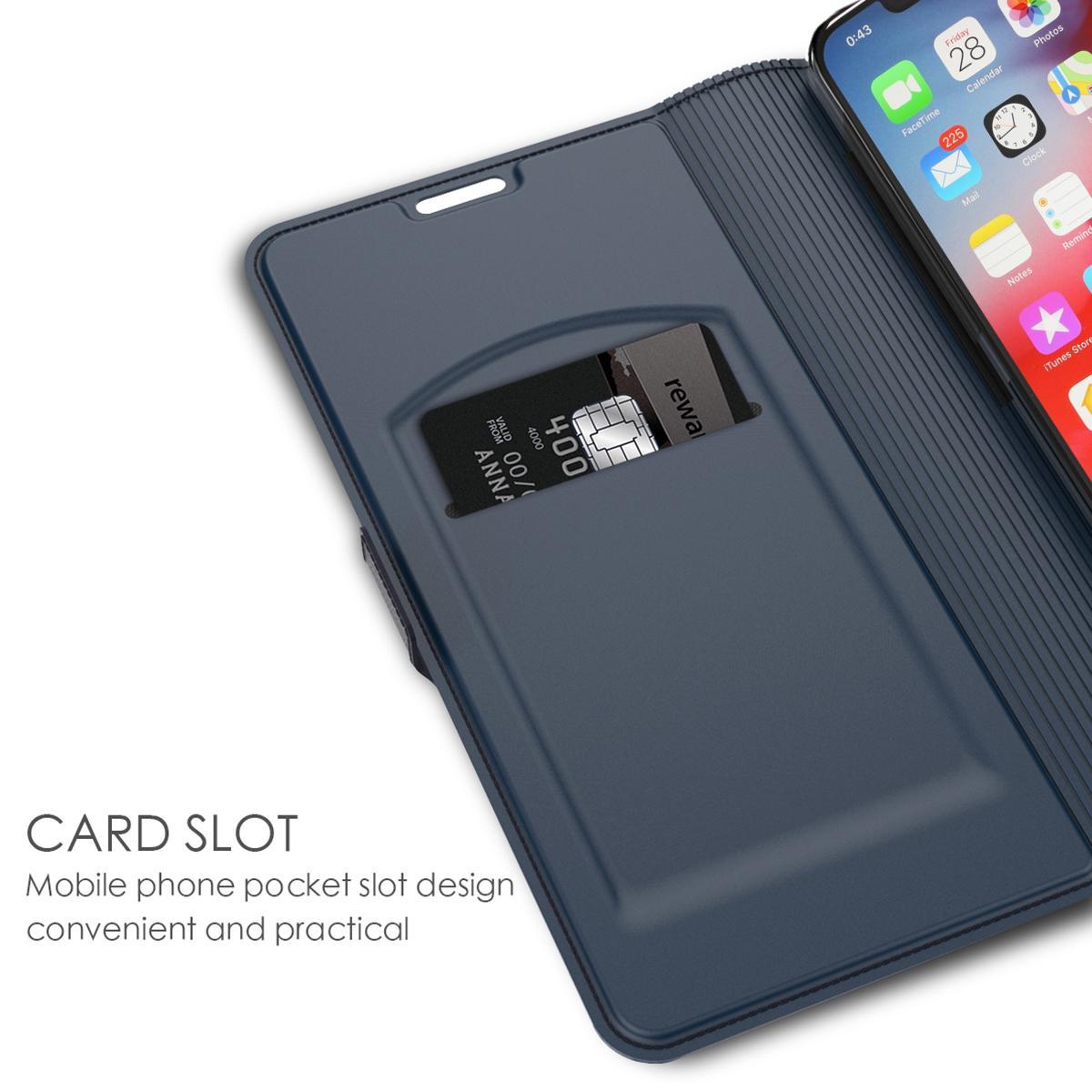 Slim Card Wallet iPhone 11 Pro Max sininen