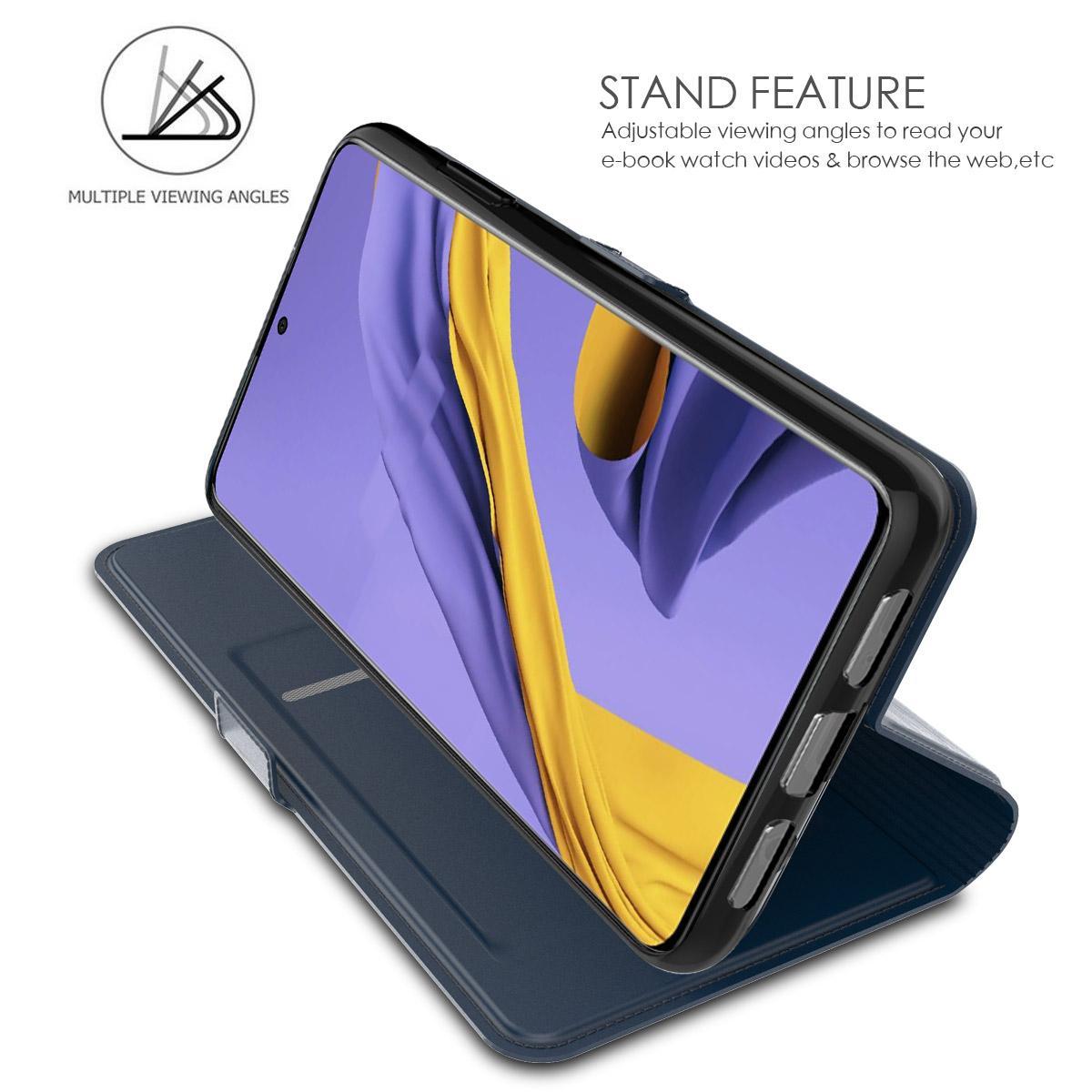 Slim Card Wallet Samsung Galaxy A51 sininen