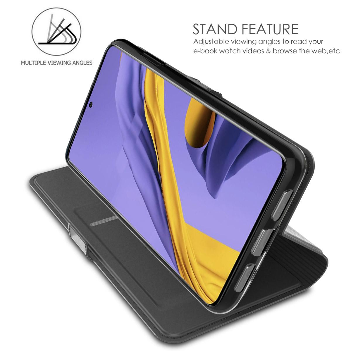 Slim Card Wallet Samsung Galaxy A51 musta