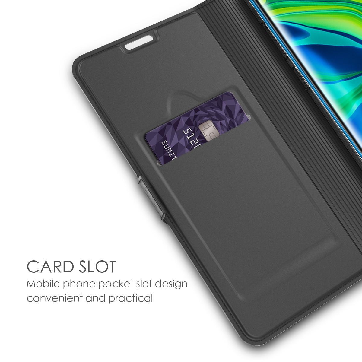 Slim Card Wallet Xiaomi Mi Note 10/10 Pro musta