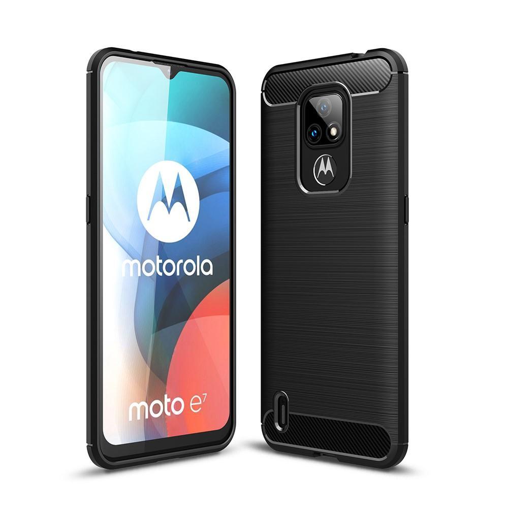 Brushed TPU Kuori Motorola Moto E7 Black