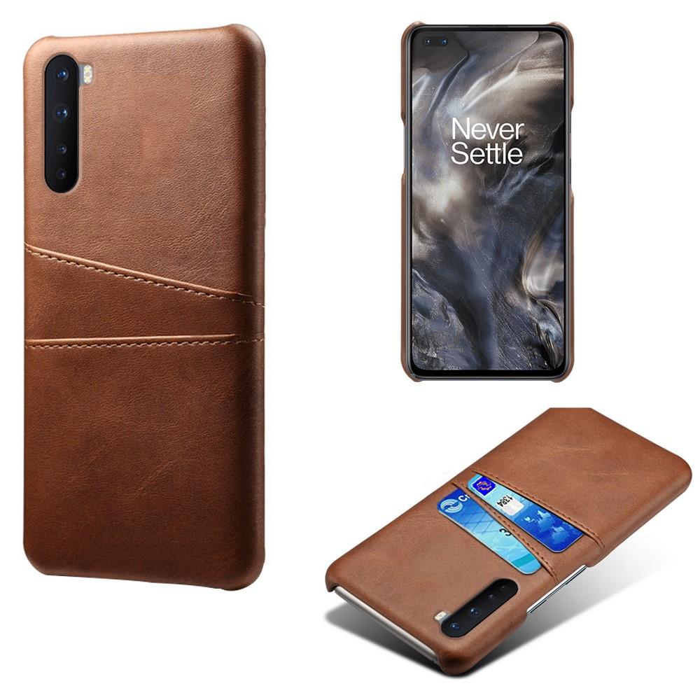 Card Slots Case OnePlus Nord ruskea