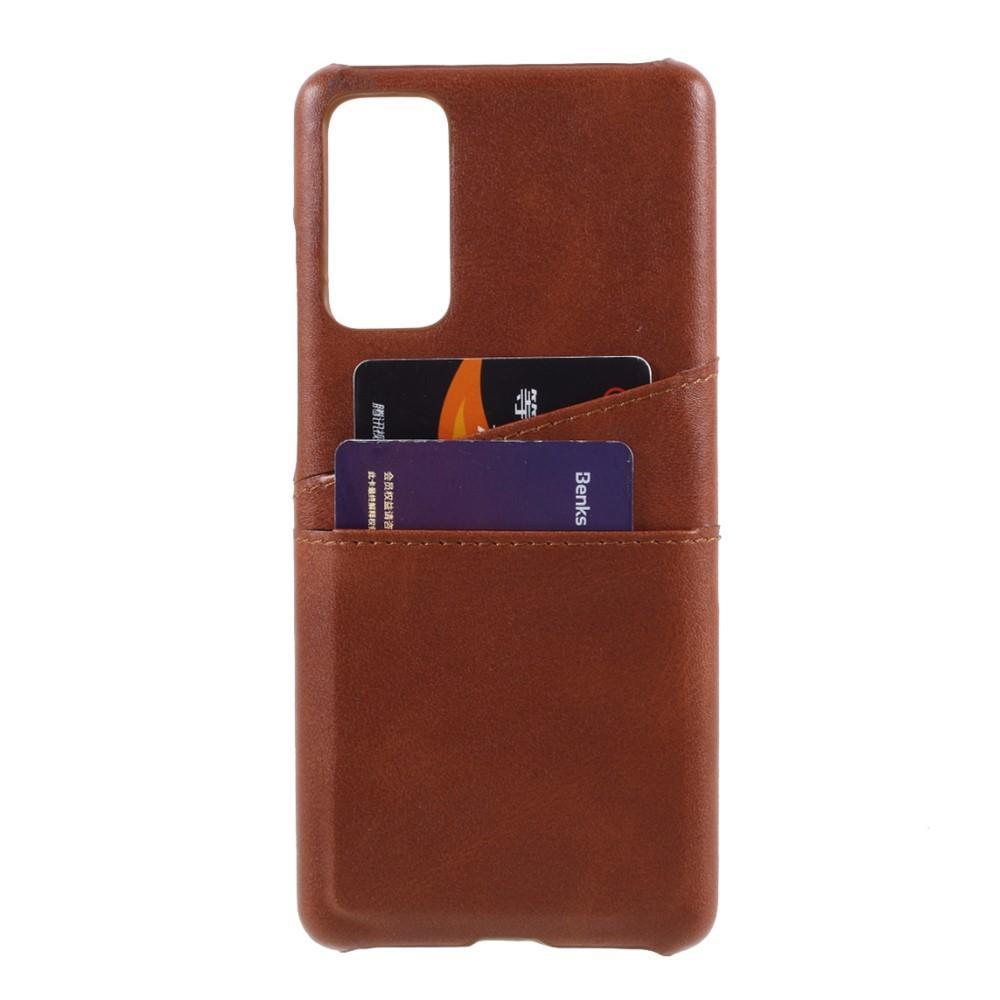 Card Slots Case Samsung Galaxy S20 FE ruskea