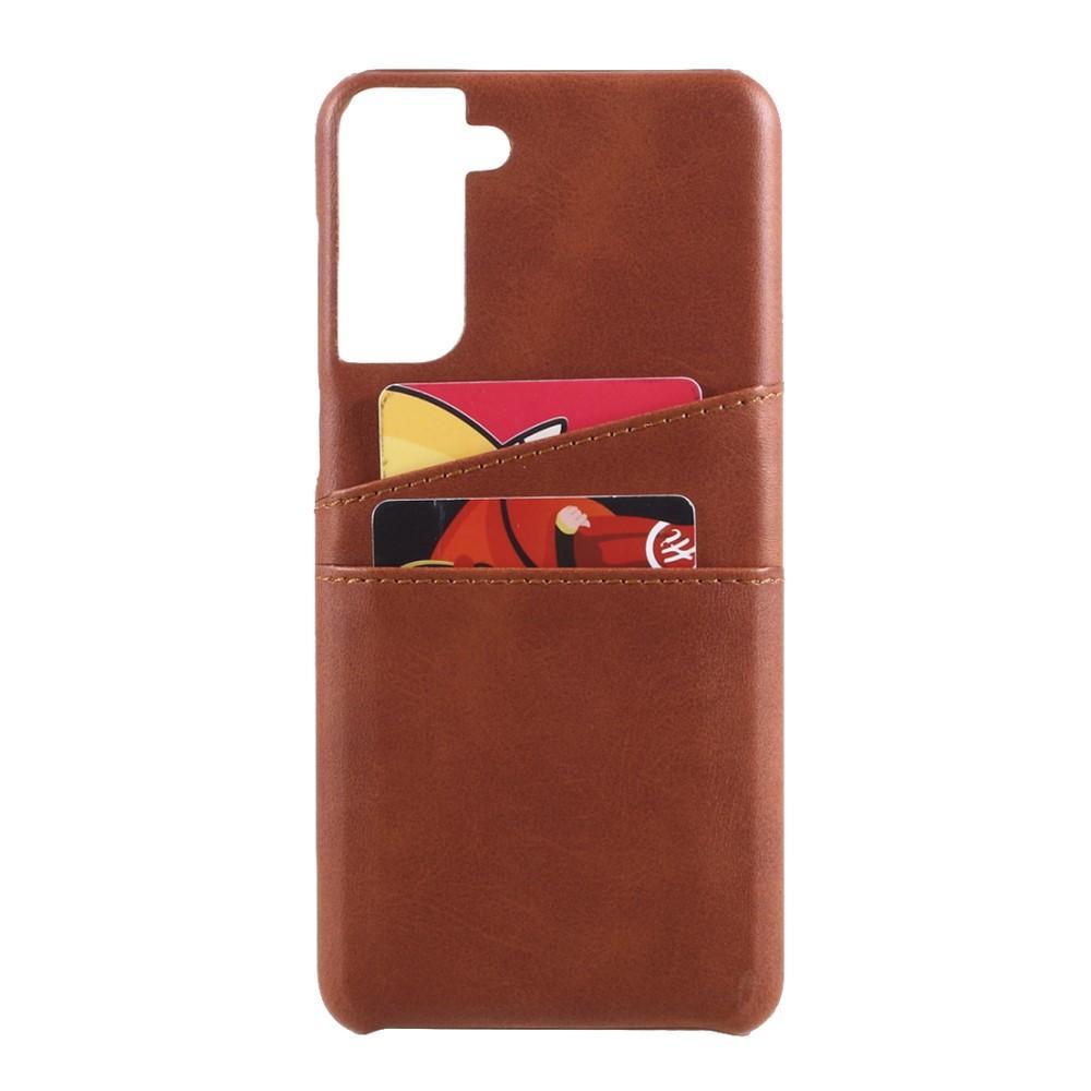 Card Slots Case Samsung Galaxy S21 ruskea
