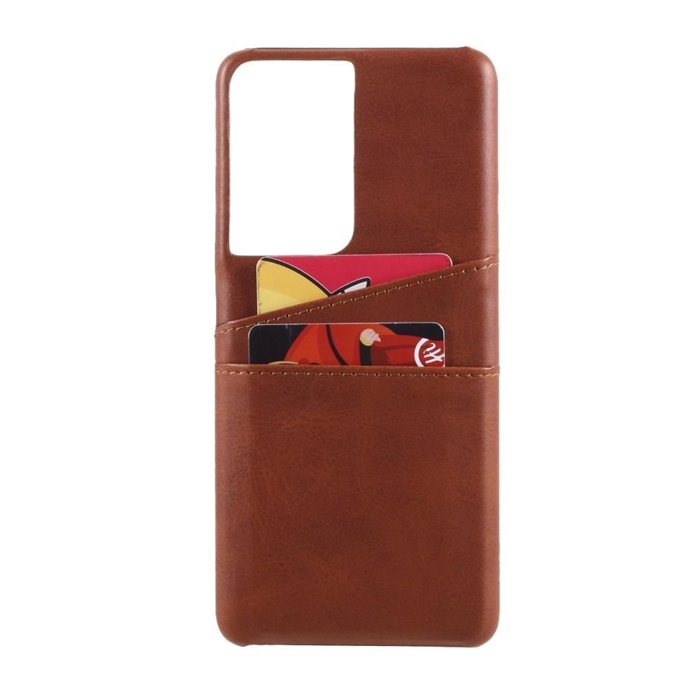 Card Slots Case Samsung Galaxy S21 Ultra ruskea