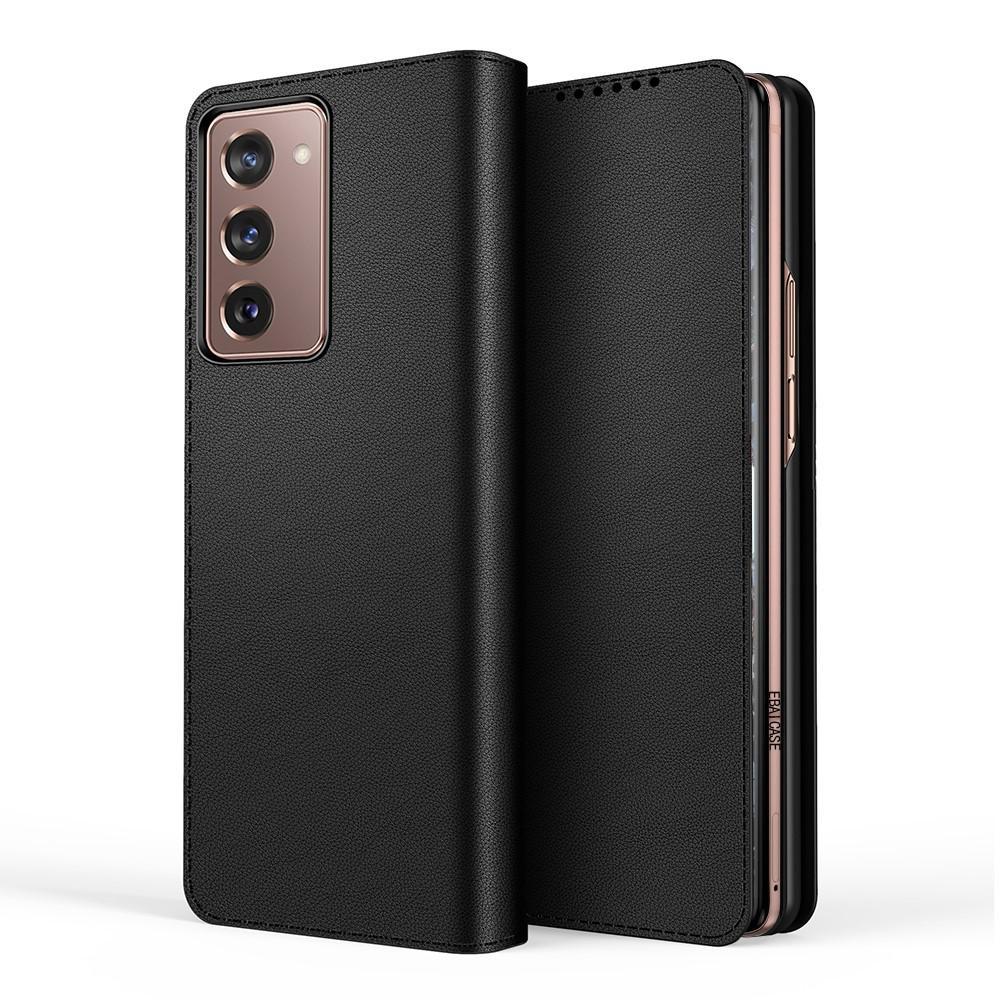 Aito Nahkakotelo Samsung Galaxy Z Fold2 5G musta