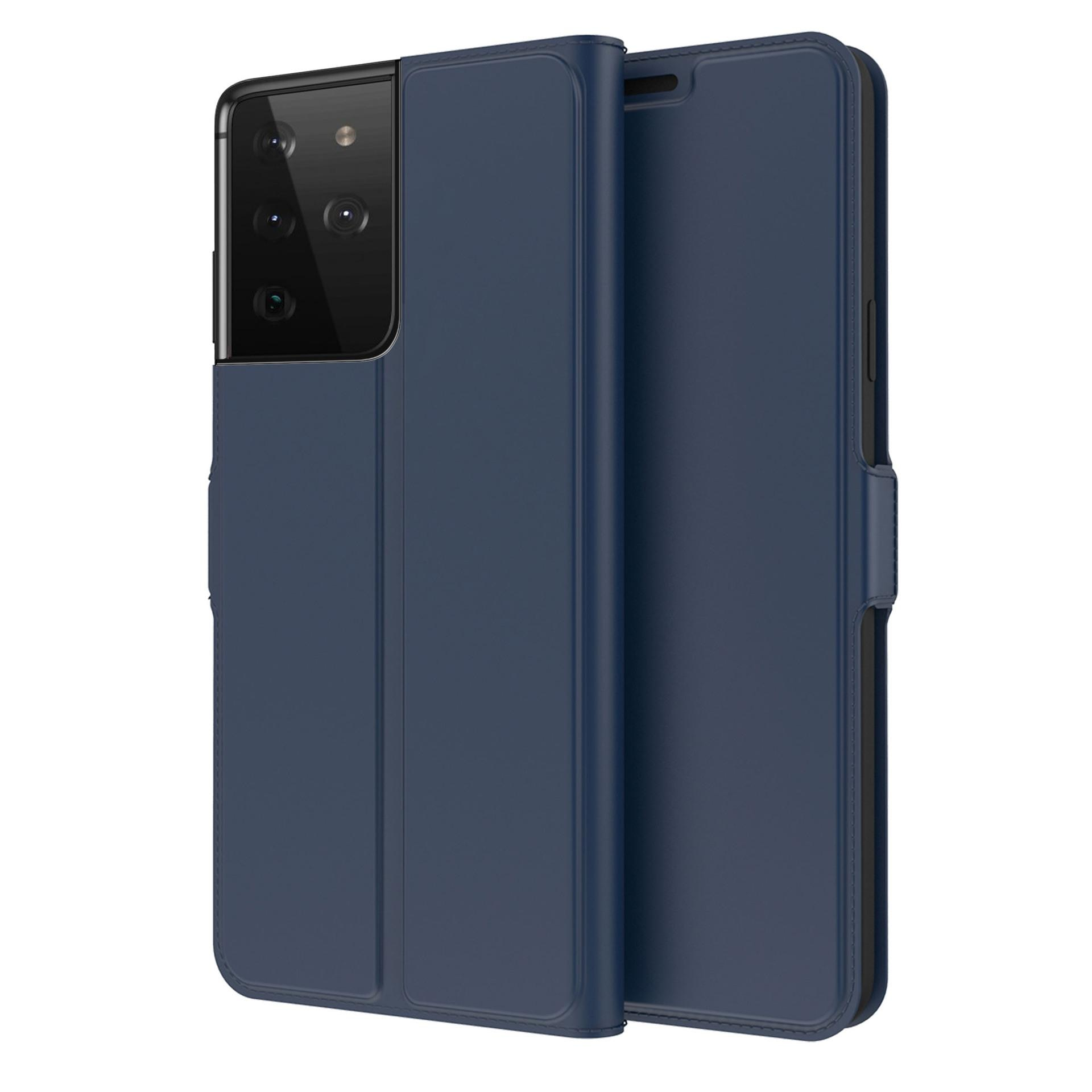 Slim Card Wallet Galaxy S21 Ultra sininen
