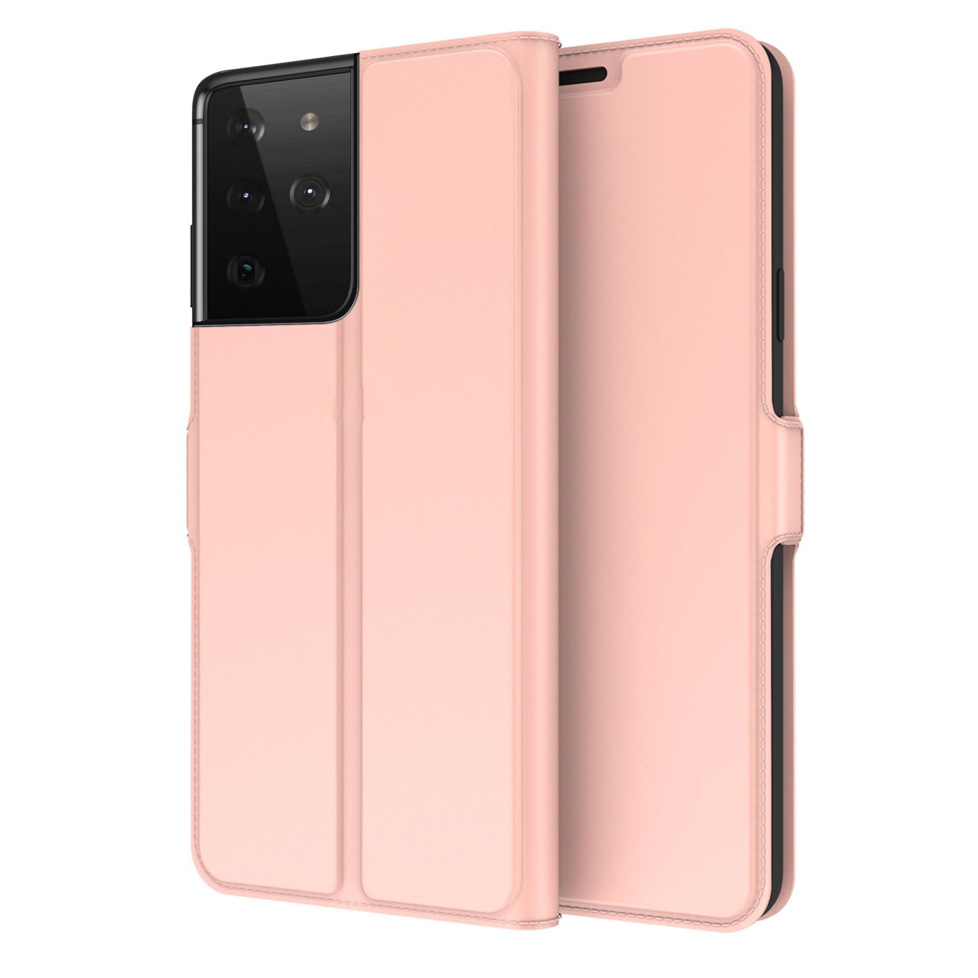 Slim Card Wallet Galaxy S21 Ultra ruusukulta