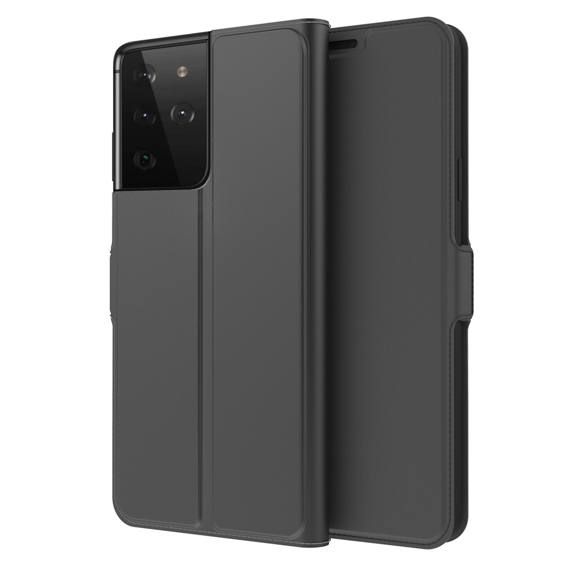Slim Card Wallet Galaxy S21 Ultra musta