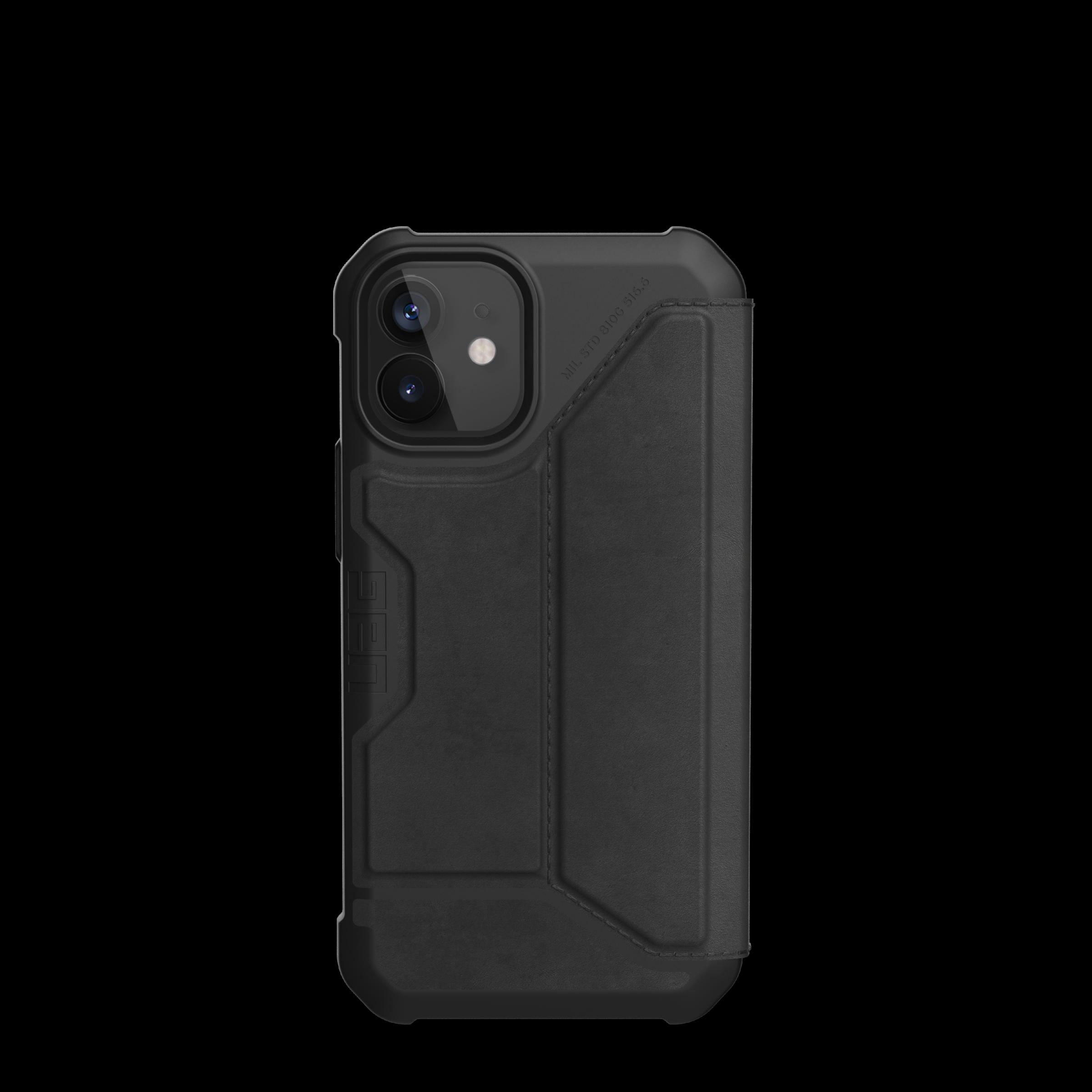 Metropolis Wallet Case iPhone 12 Mini Leather Black